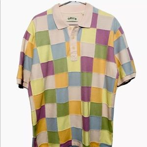 Orvis Patch Work Polo shirt L Large short sleeve
